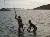 Prepara il percorso del paddle surf