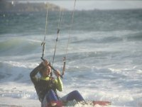 Holding the kite