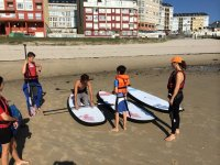 Learning paddle surf