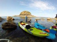 Kayak sulla costa