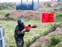 Defending the position in the paintball field