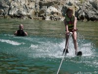 Water skiing in Denia