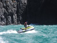 In jet ski along the cliffs of Tenerife
