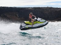 Jet ski rising over the Atlantic