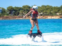 Maintaining balance on the flyboard