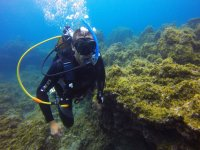 Underwater expedition in the Atlantic