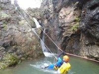 zip line in the ravine