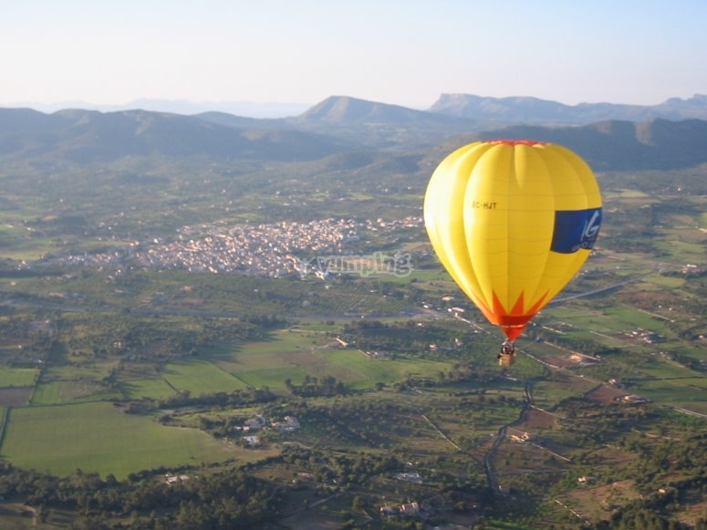 Balloon flight in Mallorca