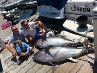La recompenda tras la salida de pesca