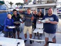 Salida de pesca con amigos en las Canarias