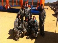 Paintball girls team