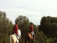 Pas eo on horseback