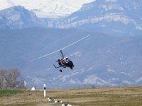 Girocoptero en los Pirineos