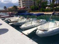 La flota de barcos