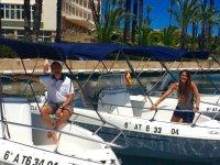 Posando desde el barco