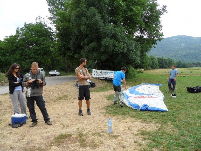 Arranging the materials after landing