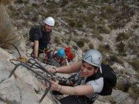 Ascending the ferrata in Alicante