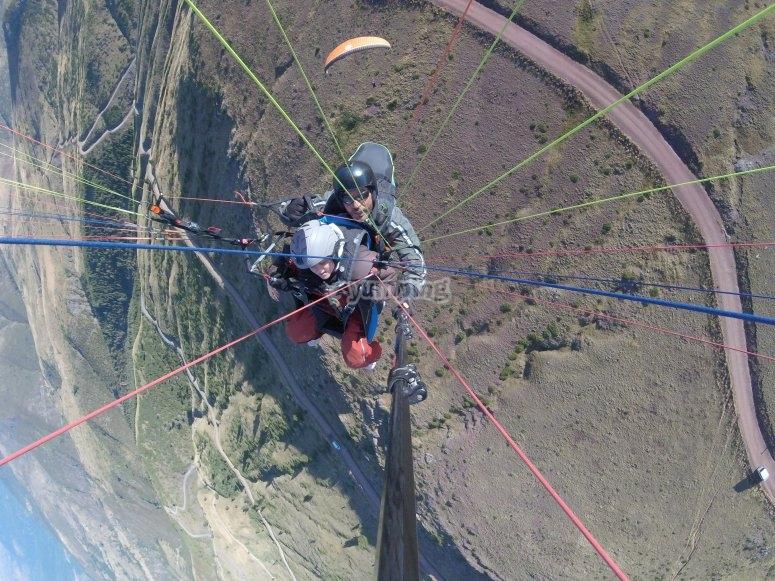 Experiencia aérea en parapente