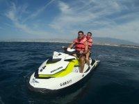 Compartiendo moto nautica en Almeria