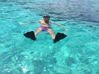 Relajado en el agua