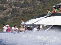 Enjoying the boat trip on Ibiza
