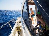 Barco para pesca en el Mediterraneo