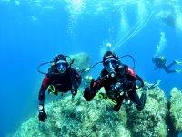 Buceando en los fondos de Formentera