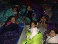 Noche en sacos de dormir