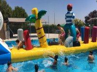 Actividades acuáticas con hinchables