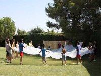 Jugando con un paracaidas