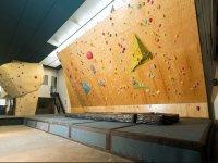 不同的攀岩墙进行攀岩