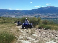 Piloting a quad through Catalan landscapes