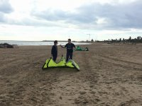 Explicaciones sobre kite en tierra