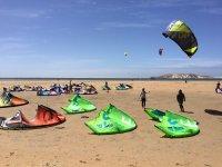 Zona de kitesurf en la playa