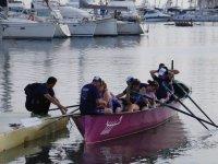 Team in the canoe