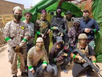 Group of airsoft soldiers