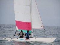Sailing school competitors