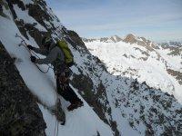 escalando con nieve