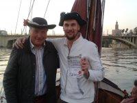 Padre e hijo en el barco