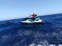 Jet ski en aguas del Atlantico