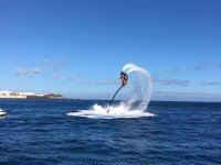 Turning with the flyboard team