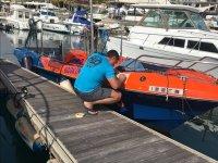 Preparazione della barca per i voli