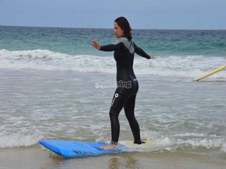 Ejercicios de surf