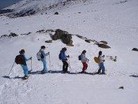 ruta con las raquetas de nieve