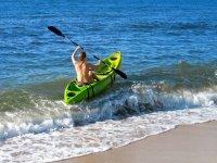 Luchando con la ola