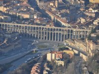 Flying over the aqueduct