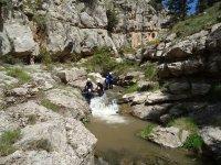 Bajando por el interior del rio