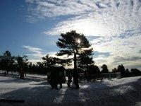 Raquetas de nieve al terminar el día