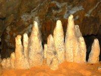 formaciones en la cueva