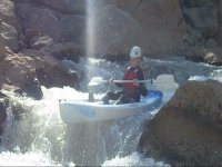Descending in canoe